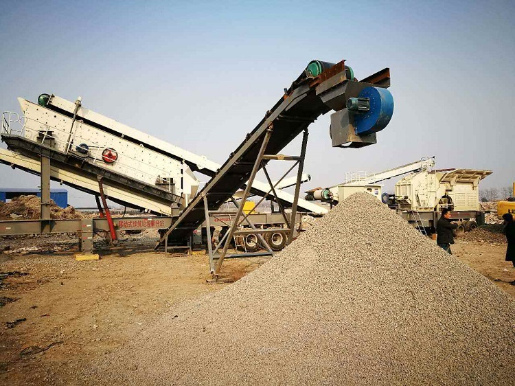 mobile stone crusher plant for construction waste