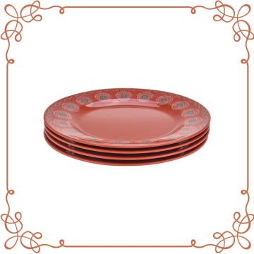 9 Inch Melamine Round Plate Set of 4