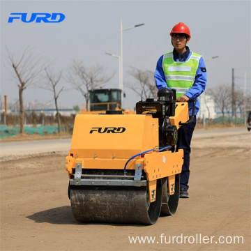 FYLJ-S600 Small Double Drum Vibrator Soil Compactor With 550kg Weight