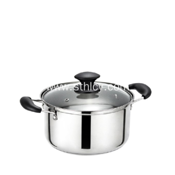 Double Ear Stainless Steel Soup Sauce Pot