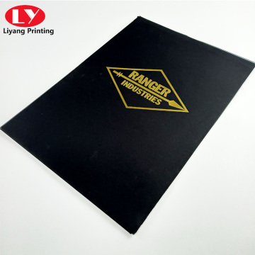 Custom office A4 file folder printing stamping logo
