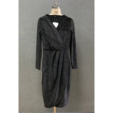 women's black sexy dress with silver