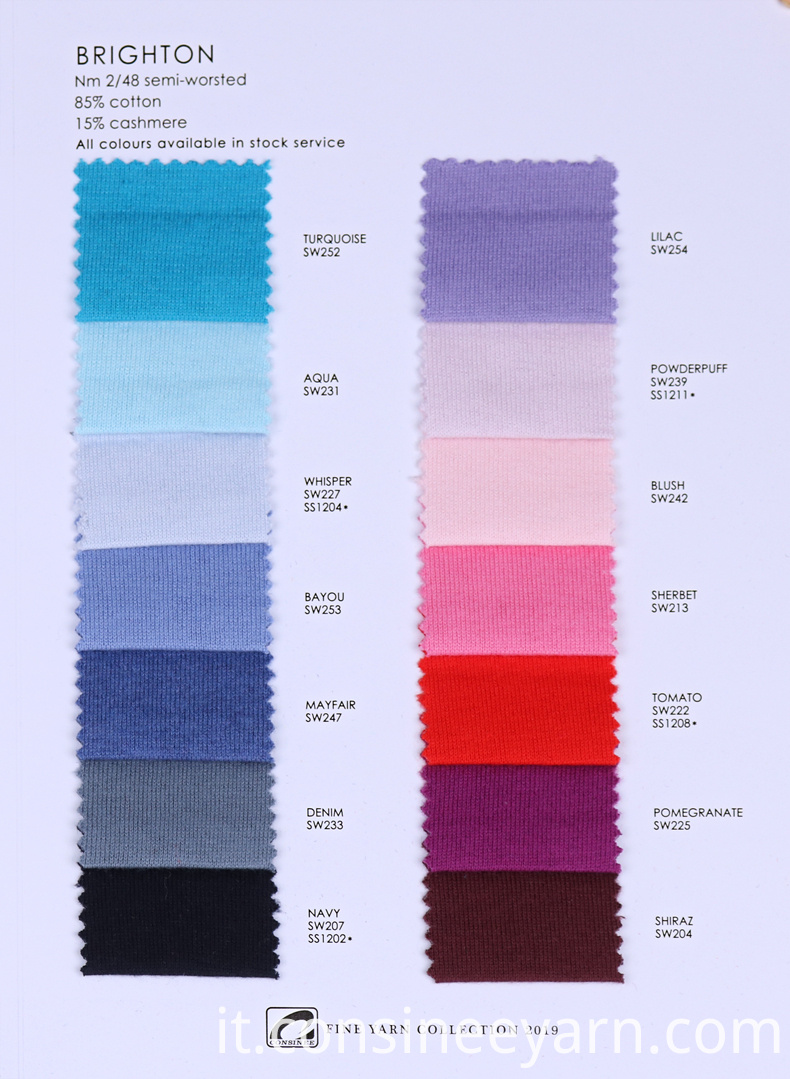 Cotton Cashmere machine Knitting Yarn