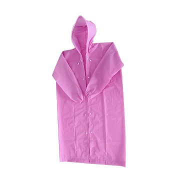 Portable Peva Plastic Adults Raincoat with Hoods