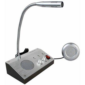 Bank Counter Window Broadcasting Intercom System Dual-way Intercommunication Microphone Interphone Speaker System 3W