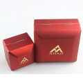 Delicate red jewelry box set with velvet insert