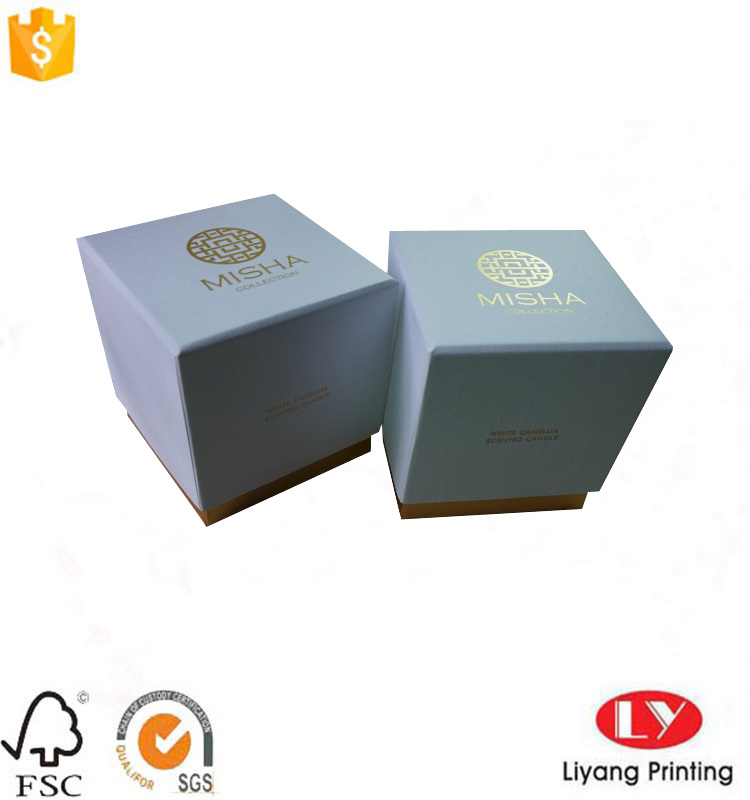 candle box with logo
