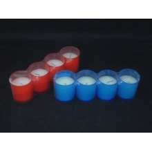 Assorted Frosted Colored Glass Candle