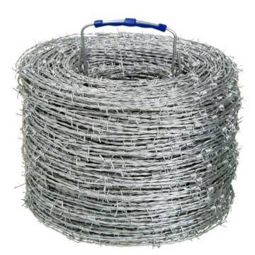 Galvanized or pvc coated barbed wire