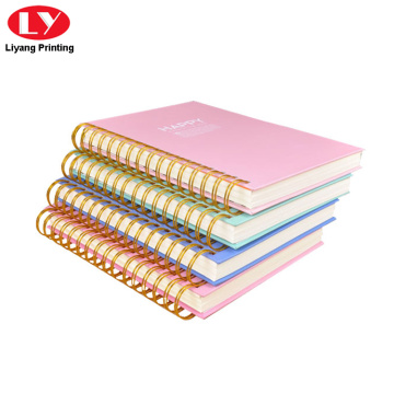 Custom printed double spiral notebook cardboard