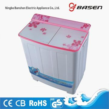 Pink Glass Cover Twin Tub 8.5KG Washer With Dryer