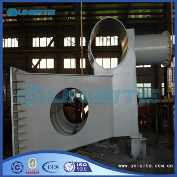 Steel marine dredge bow coupling