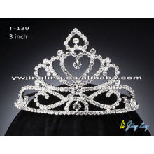 Small Pageant Crown Rhinestone Tiara For Sale