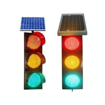 High Quality IP65 Waterproof LED Solar Traffic Signal Light