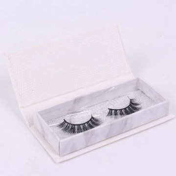 Magnetic lid eyelash packaging box with plastic tray
