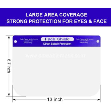 Safety Face Shield Clear Film to Protect Eyes