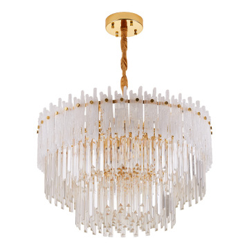 Beaded Crystal White Chandelier