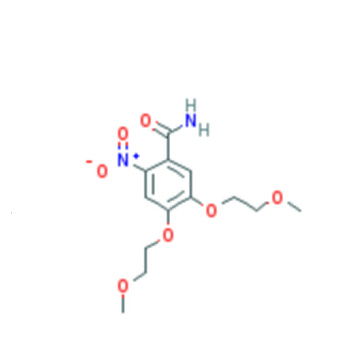 Anti-Cancer Erlotinib Intermediates 4,5-Bis(2-Methoxyethoxy)-2-Nitrobenzamide CAS 1172625-04-5