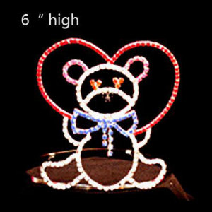 Holiday Rhinestone Candy Bear Heart Valentine'S Day Crown