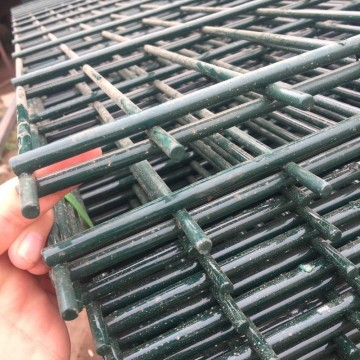 Galvanized double horizontal wire secure mesh fence