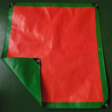 Red Plastic Tarpaulin Construction Site Cover