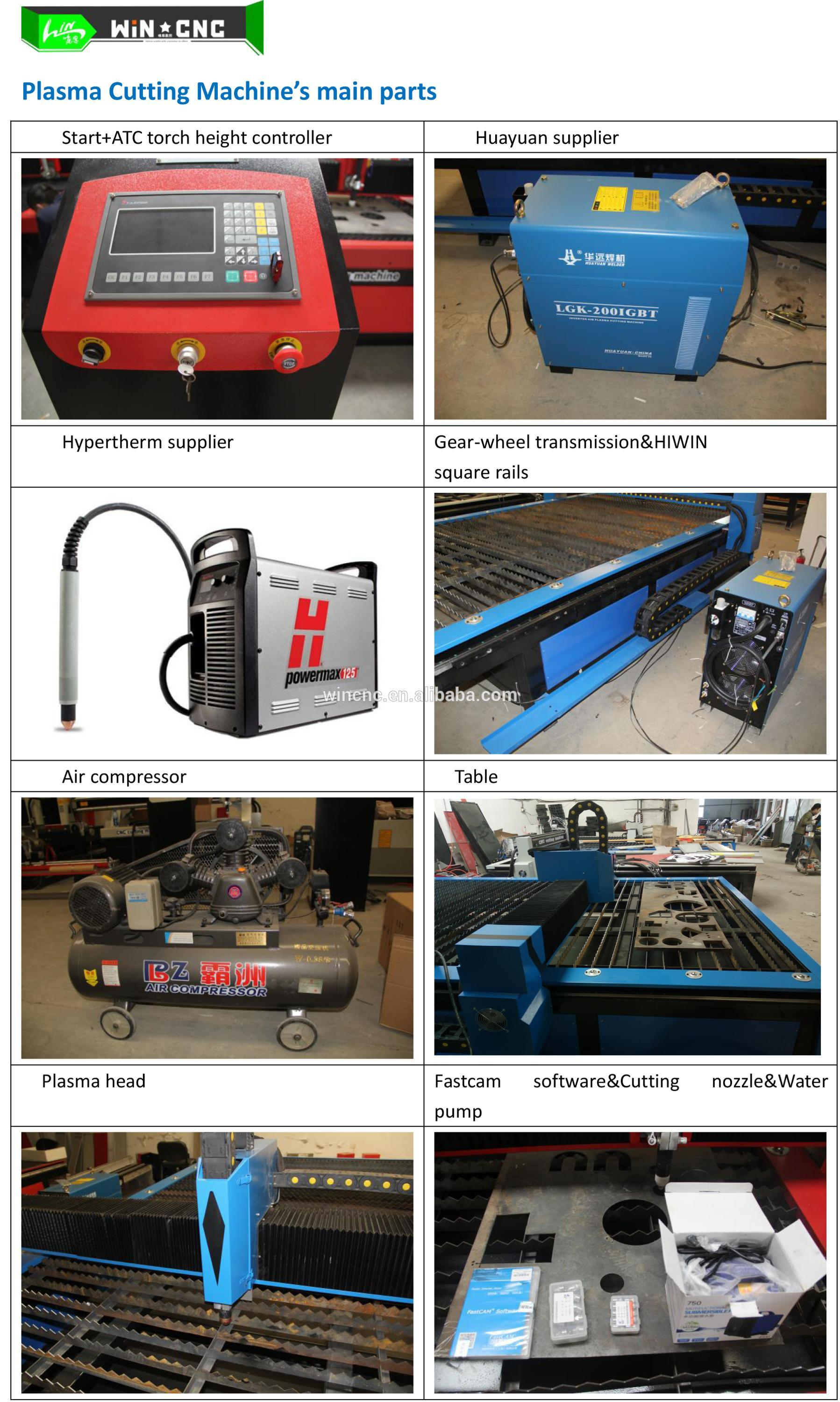 cnc sheet metal plasma cutting machine