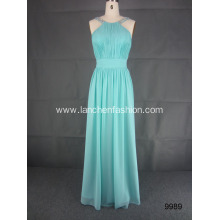 Shoulder Bridesmaids Elegant Halter Dress