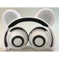 Telinga Telinga Panda CartoonGlowing Headphone berwayar