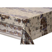 Double Face Emboss printed Gold Silver Tablecloth Big