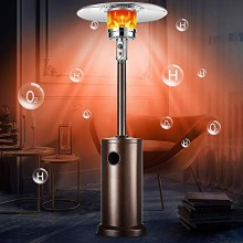 Propane Patio Heater With Wheels And Table Large Outdoor Gas Heater Camping Hiking Picnic Stove Heater Adjustable Thermostat