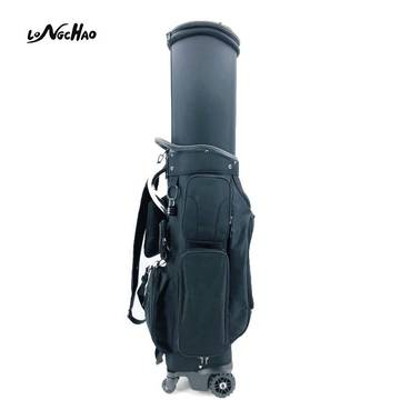 2020 New Design Factory Direct Nylon Golf Bags with 4 Way Wheels