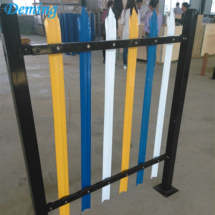 PVC Coated High Security Colorful Steel Palisade Fence