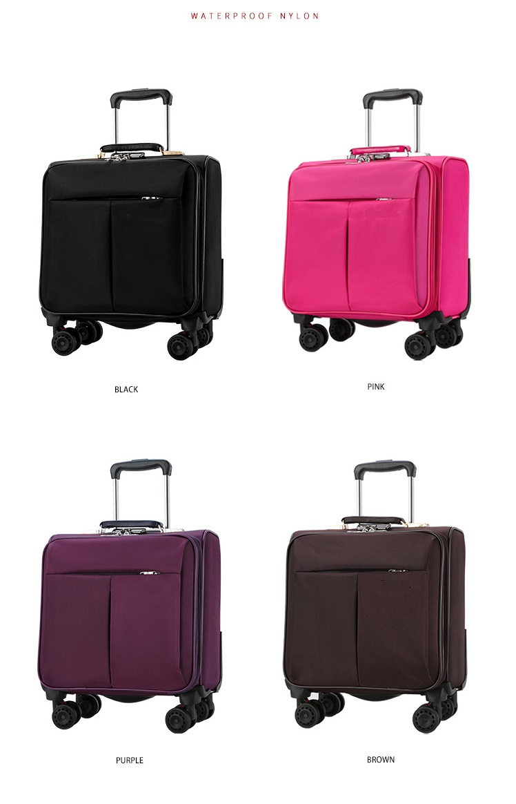 four colors trolley bag