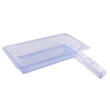 Medical device packaging plastic thermoformed tray
