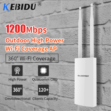 360-Degree Waterproof Outdoor Wireless Wi Fi Router 1200Mbps High Power AP Wide-Area Wi-Fi Amplifier With Omnidirection Antenna
