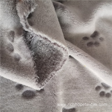 Double-Sided Pet Paw Back Printed Cutting Flannel Fabric