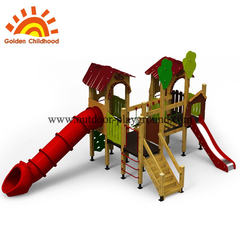 Outdoor playhouse slide for kids