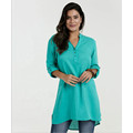 Loose SleeveLong shirt With V-Neck Long sleeve Blouse