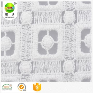 embroider 100% cotton heavy embroidery french lace fabric