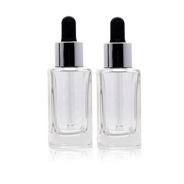 스퀘어 유리 dropper 병 Essence Oil Bottles
