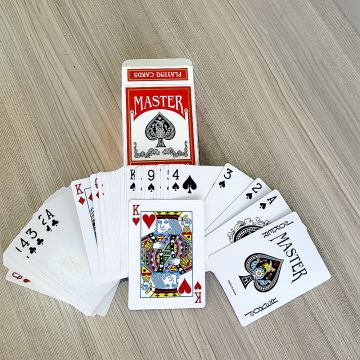 Custom high quality color white core playing cards