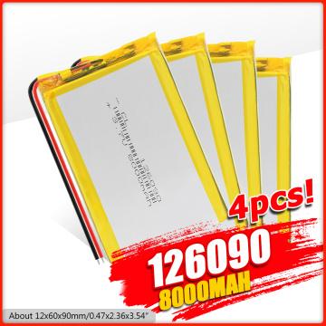 3.7V 8000mAh Li-polymer Battery 126090 7566121 PCB For Tablet PC DVD GPS MID PDA Bluetooth speaker, Digital camera, LED Lamp