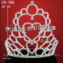 Wholesale Cheap Heart Rhinestone Pageant Crowns CR-786