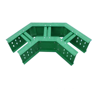 Heavy duty bend fiberglass ventilated trough cable tray