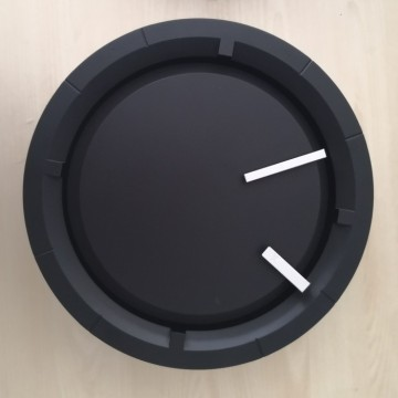 12 Inch Black Wall Clock Patented Item