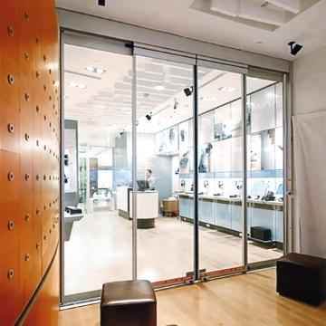 Shop framed automatic sliding door with sensor glass
