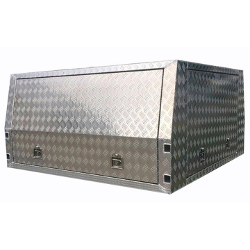 Aluminum Checker Plate UTE/Truck Waterproof Canopy Tool Box
