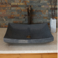 G654 dark grey granite polished vessel sink