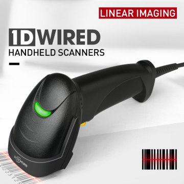 Handheld 1D wired barcode scanner ccd barcode reader
