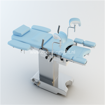 Double control electric gynecological examination bed
